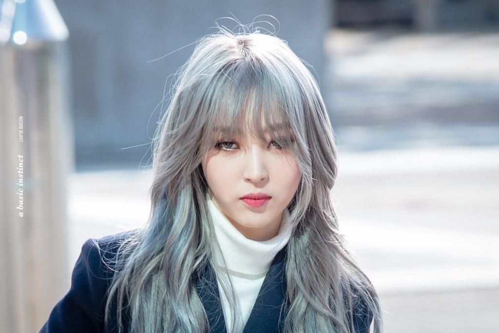 Kpop Mamamoo Moonbyul cheveux blancs