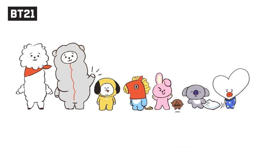 Tous les personnages BT21 réunis en une image