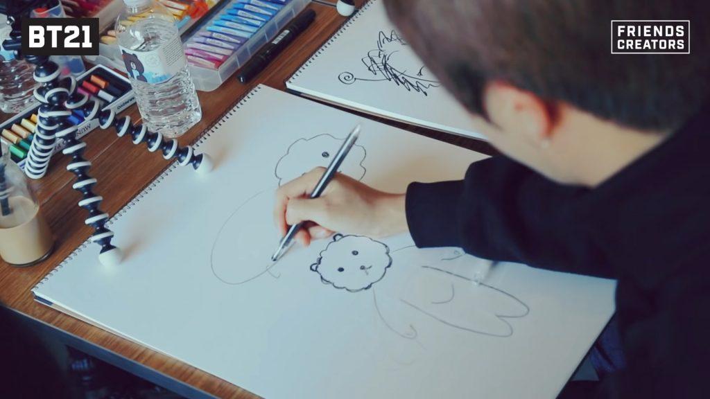 Jin en pleine création de son personnage RJ l'alpaga