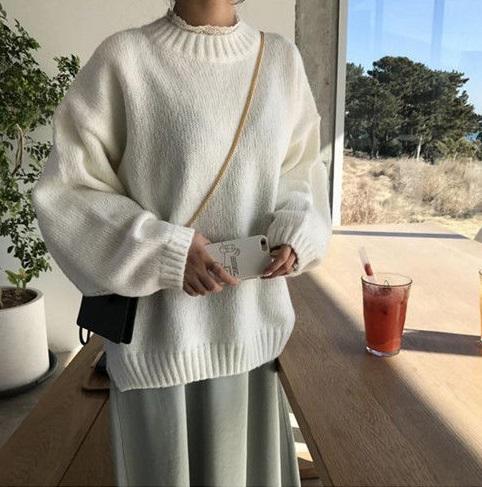 купить белую кофту корейский стиль