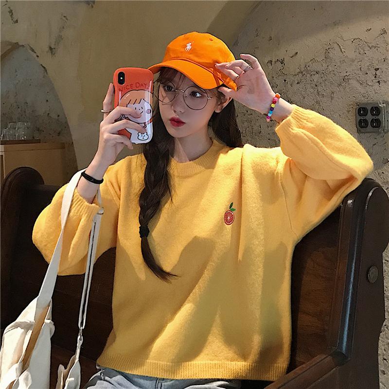 купить желтую кофту корейский стиль цзую twice