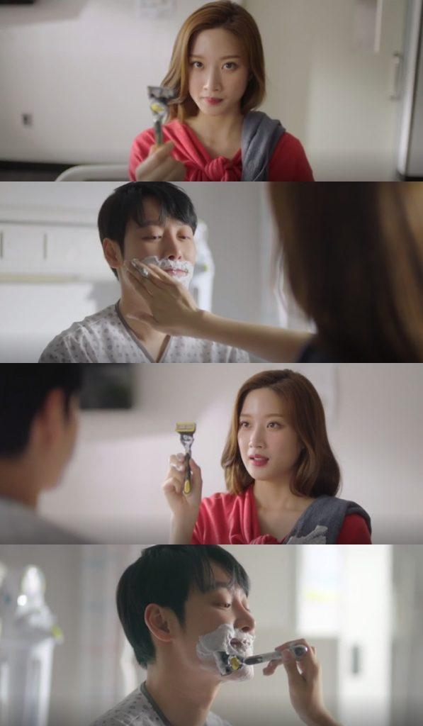отыщи меня в своей памяти романтическая сцена Ким Дон Ук и Мун Га Ён