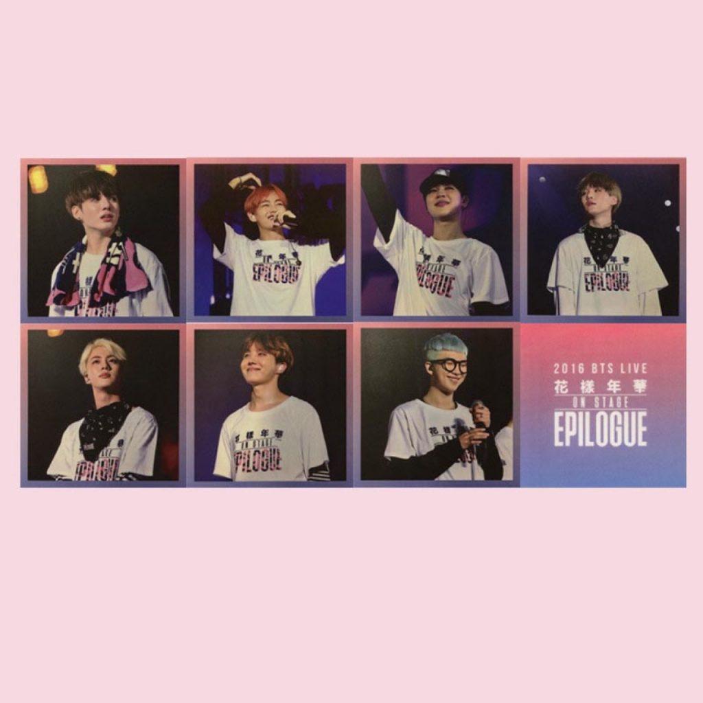 фотокарточки кпоп альбома 2016 BTS Live Flower On Stage: Epilogue Concert