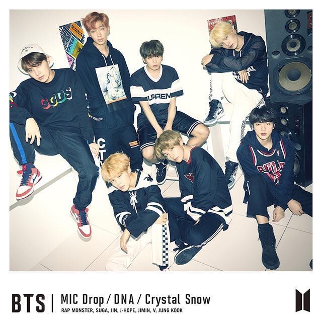 японский альбом bts MIC Drop DNA Crystal Snow Версия Limited edition B фото