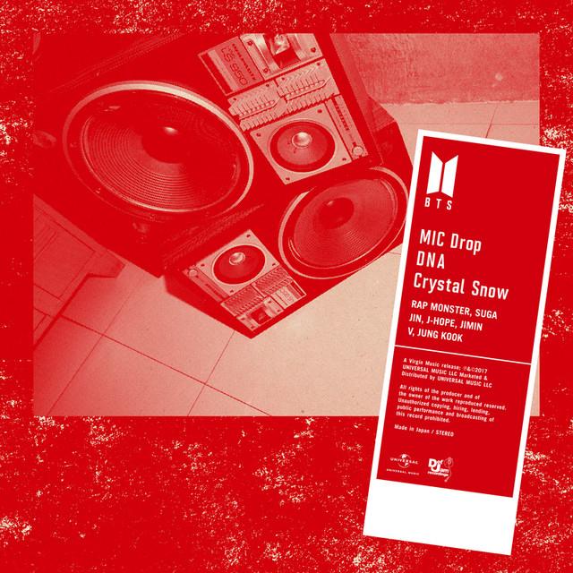 японский кпоп альбом bts BTS MIC DROP DNA CRYSTAL SNOW Версия Regular edition фото распаковка