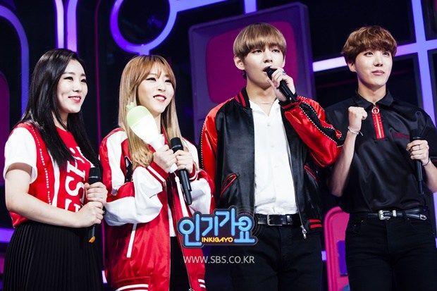 photo korean show bts Inkigayo v jhope