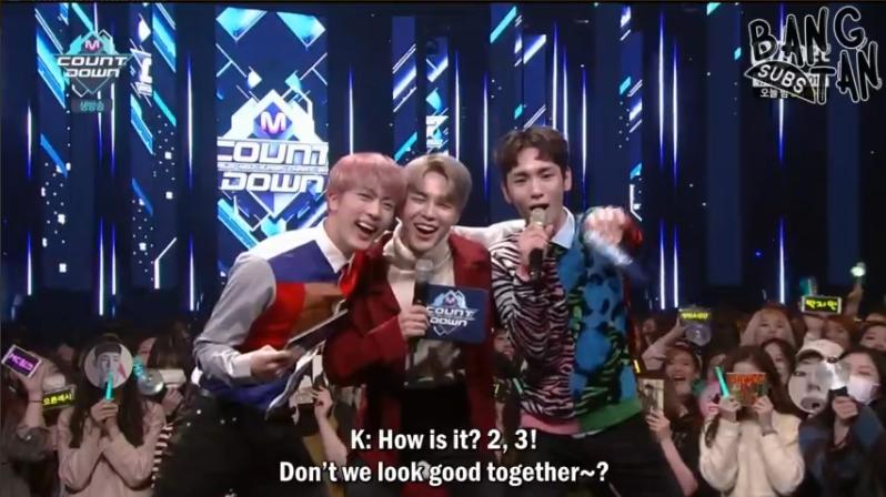 korean show M Countdown jin jimin bts