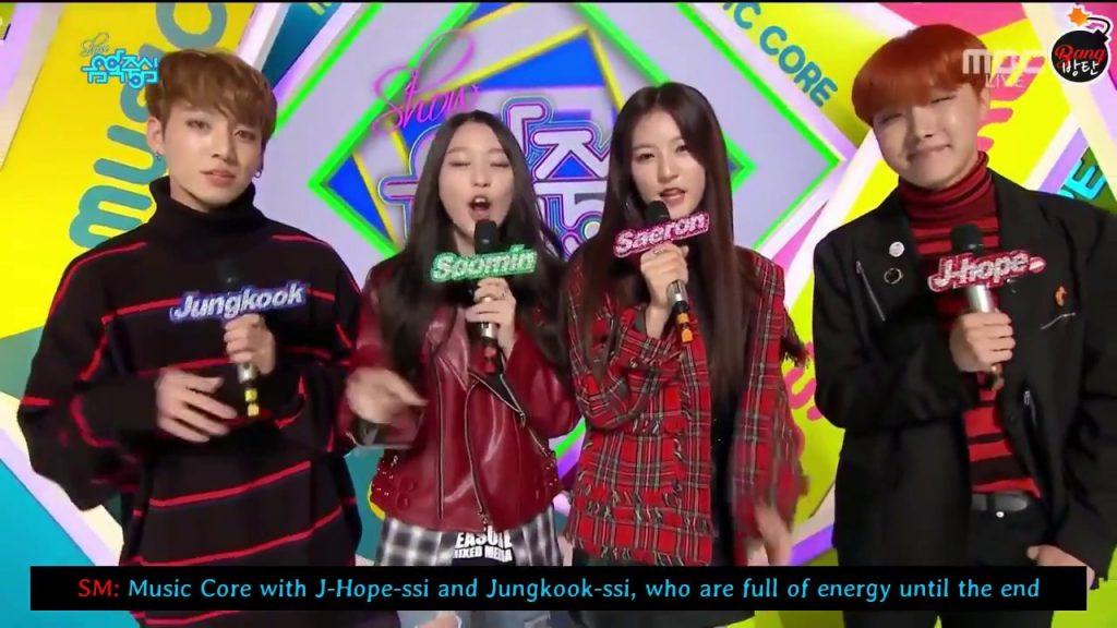 photo bts jhope Show! Music Core  jungkook korea