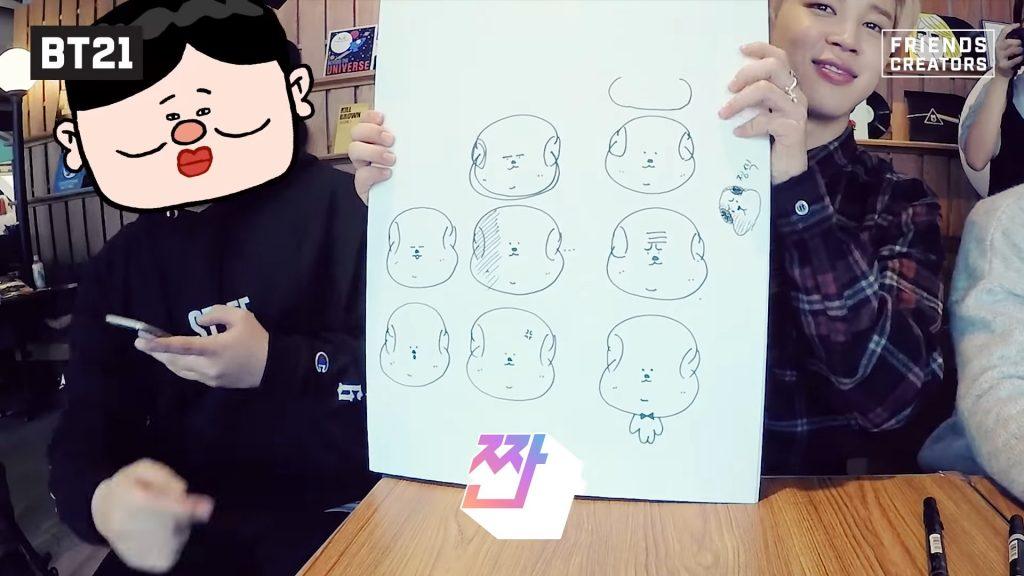 чимин нарисовал чимми bts bt21