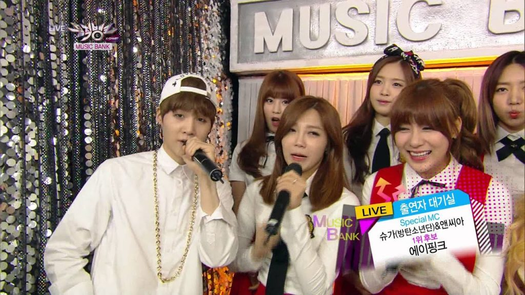 show Music Bank korea suga bts mc
