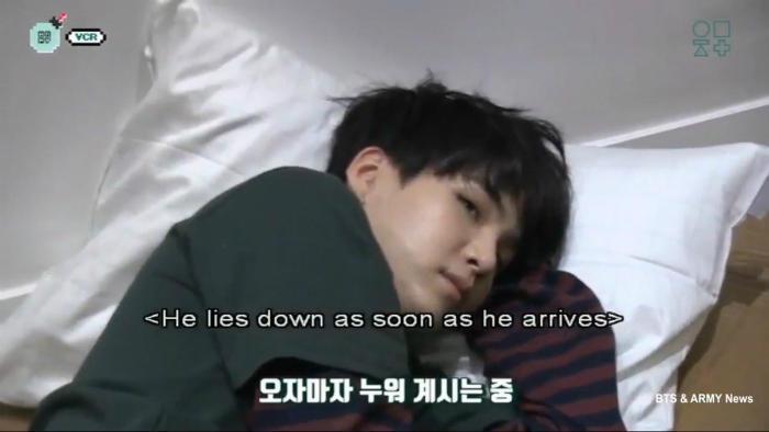 Suga bts kpop sleep