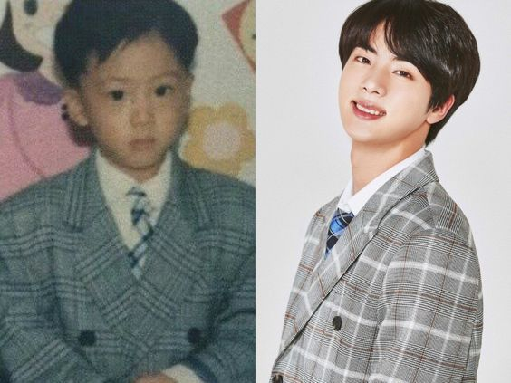 jin bts kpop facts biography kid childhood photo
