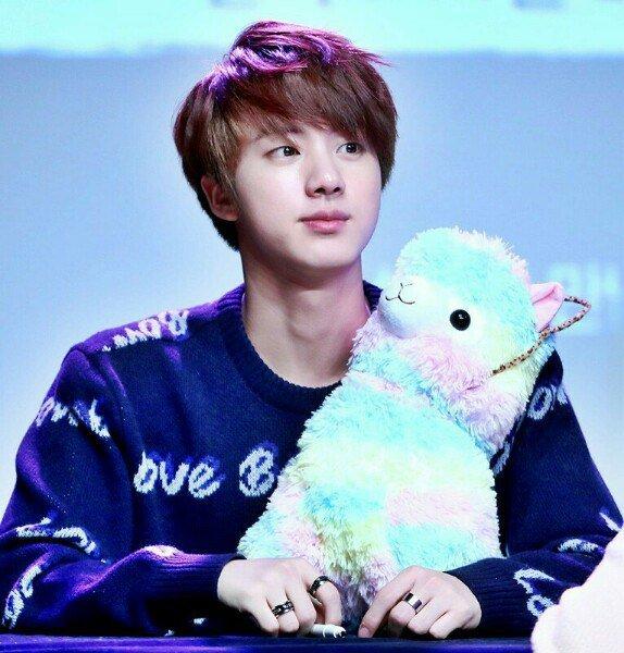jin bts kpop alpaca