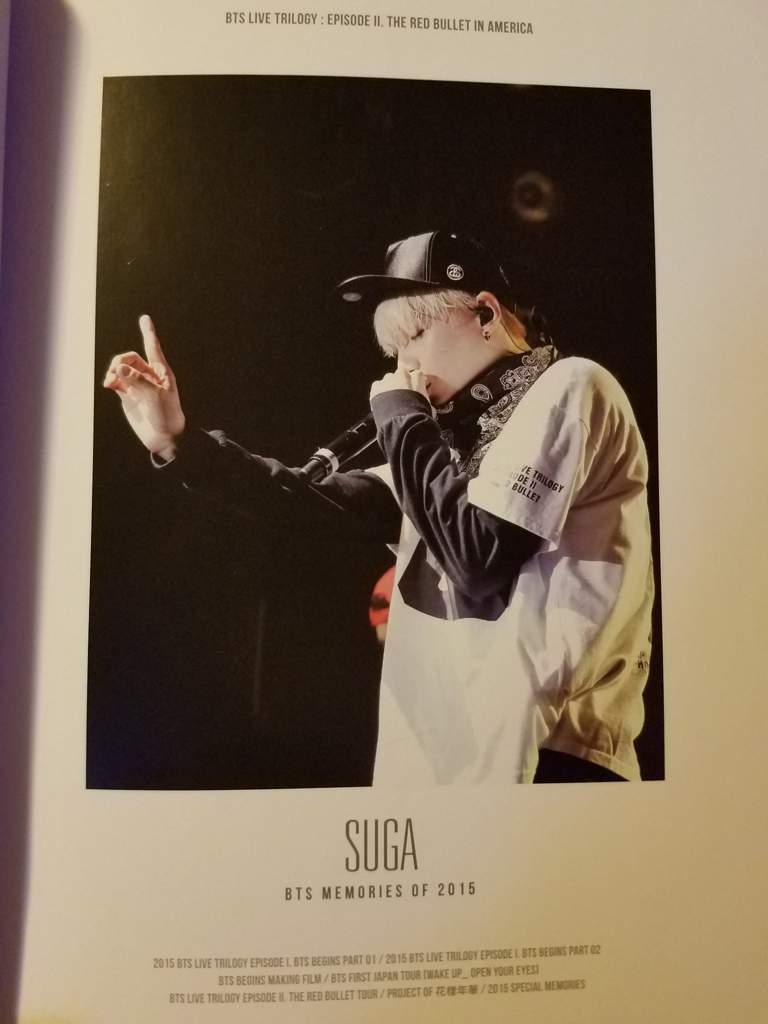 buy kpop album BTS MEMORIES OF 2015 photos Suga